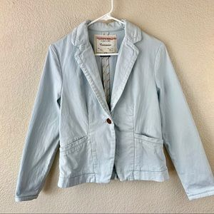 {Cartonnier} Pale Blue One-Button Blazer